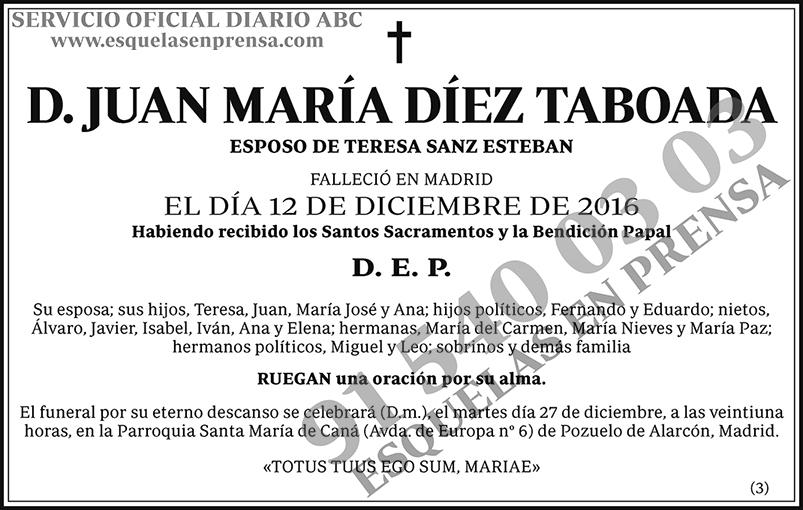 Juan María Díez Taboada